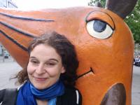 Frauke Schmickl in Erfurt beim KiKA